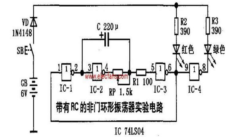74ls04应用电路图大全(七款74ls04环形...