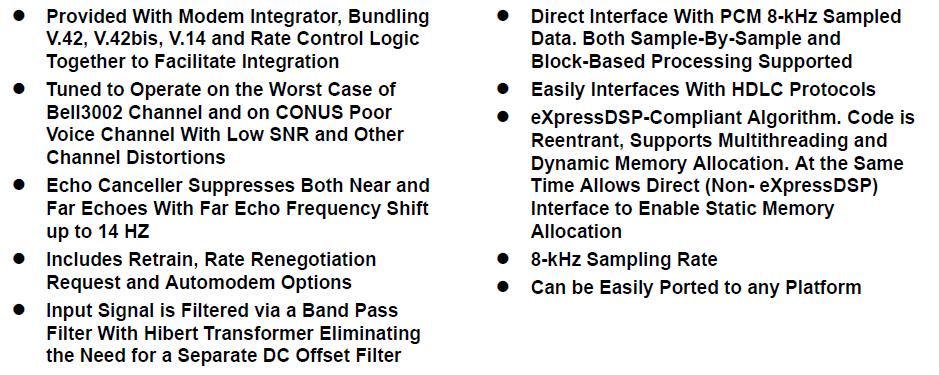 TMS320C54CST数据调制解调器算法的详细资料概述