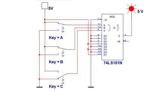 8选1多路选择器电路图(五款8选1多路选择器电路)