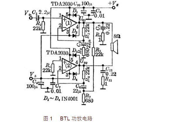 tda2030应用电路图大全(七款双电源功放/单电源功放/声道应用电路)