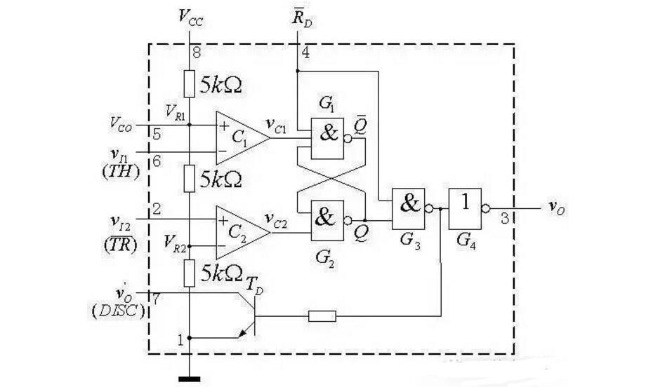 555电压检测电路_555构成的脉宽检测电路