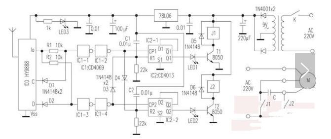 电动窗帘电路图大全(八款交流/直流/自动电动窗帘电路原理图详解)