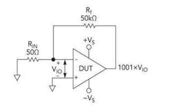 三种电路拓扑对运算放大器DC参数测试