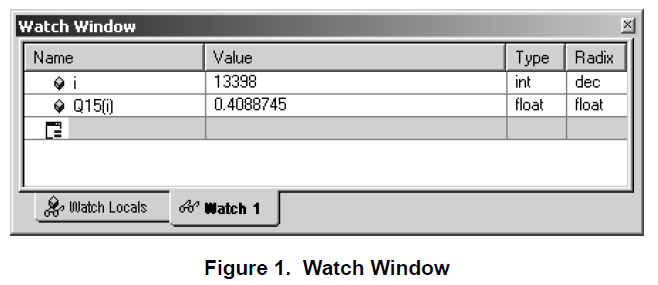 监视窗口中的Q值的详细介绍和资料概述