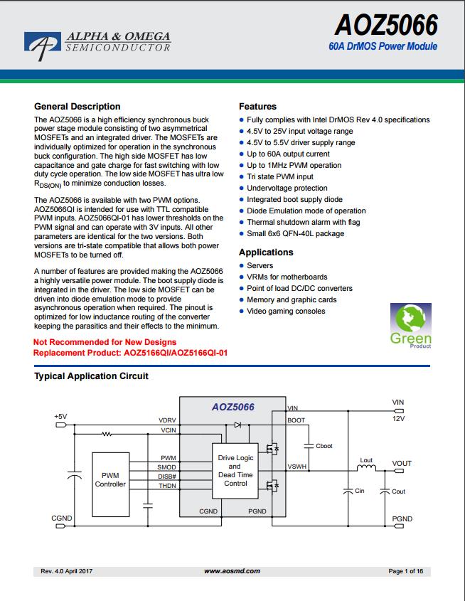 aoz5066qi-01芯片资料文档下载.pdf-电子电路图,电子