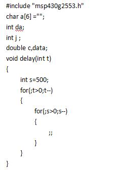 MSP430_G2553_LaunchPad__AD转换结果用LCD1602显示