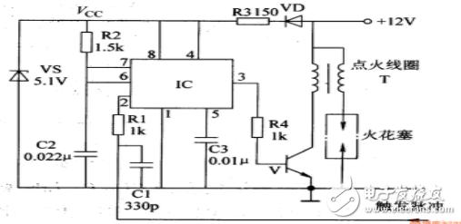 该汽车电子点火器电路 - 简单电子点火器电路图大全(ne555磁电机