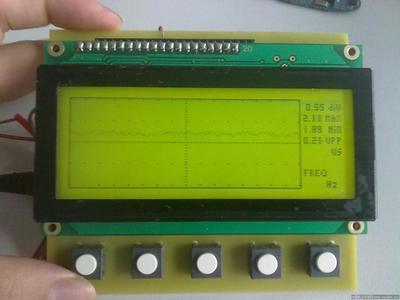 MSP430中LAUNCHPAD的 12864 ADC实例