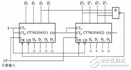 74ls163应用电路图大全(N进制计数器\分频电路\时钟脉冲)