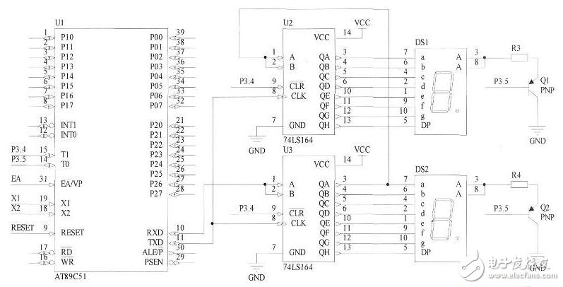 74ls164单片机编程汇总(跑马灯/驱动数码管...
