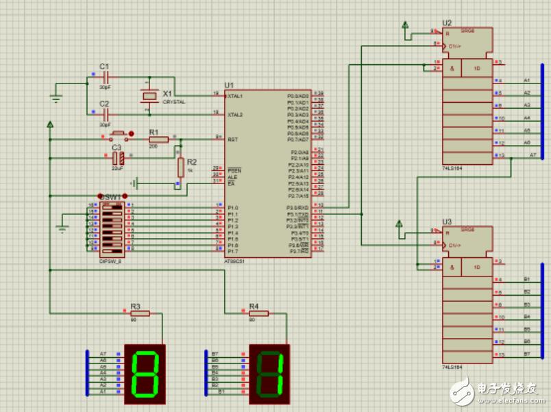两个74ls164怎么连?74ls164联级应用电路