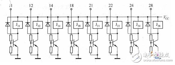 两个74LS192级联构成两位十进制计数器