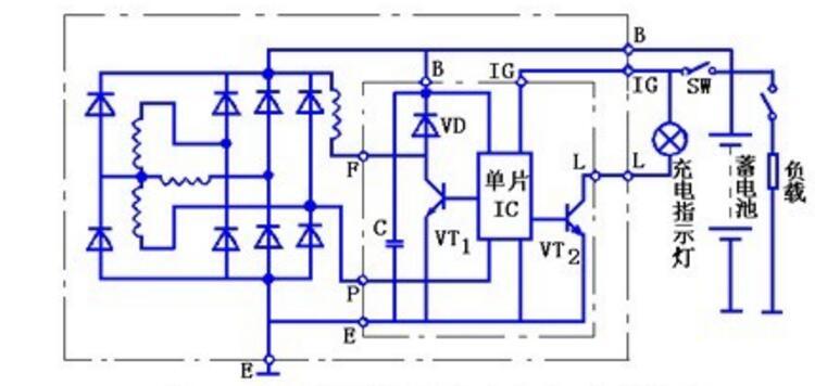 小型发电机电路图大全