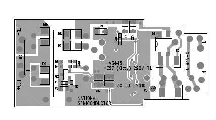 E27(Kitty)220V LED 350mA R2-ASM底部的电路图概述