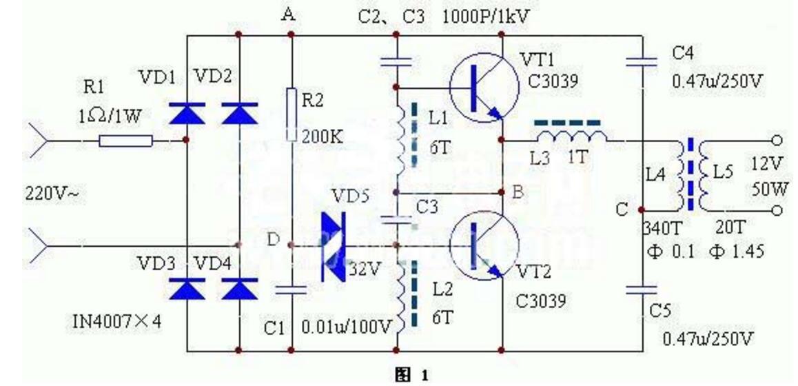 简易大功率电子变压器制作_四款电子变压器电路图