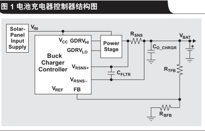 太阳能降压升压电池充电器