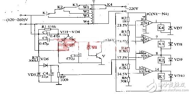 交流稳压电源电路图大全(交流稳压器/可控硅/零触发)