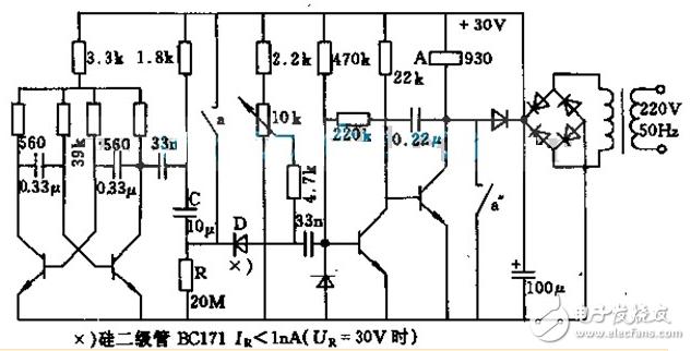 继电器开关电路图大全(光控开关电路/时间继电器/单稳触发电路)