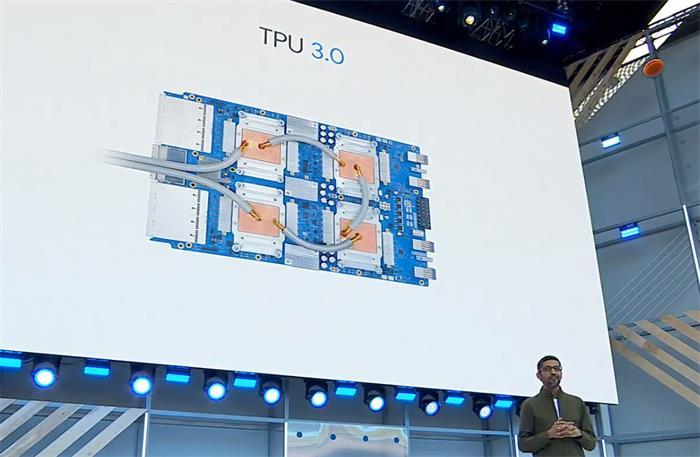 Google发布人工智能芯片TPU 3