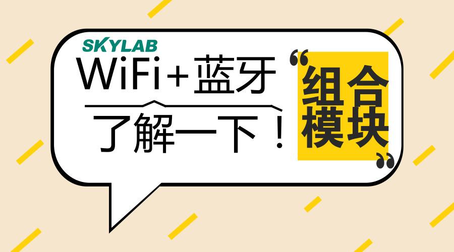 SKYLAB:WiFi+蓝牙组合模块,了解一下