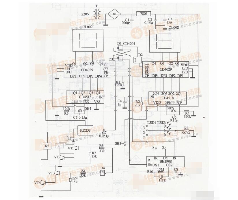 cd4029中文资料汇总(cd4029引脚图及功能_工作原理及应用电路)