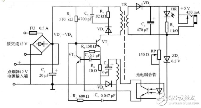车载usb充电器电路图大全(稳压管/手机充电器/...
