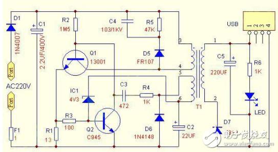 车载usb充电器电路图大全(稳压管/手机充电器/Buck变换器)