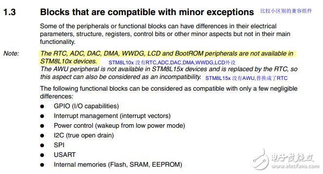 STM8L101和STM8S103差异对比