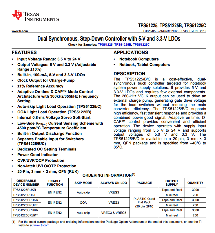 TPS51225芯片资料.pdf