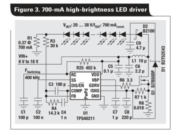 新的电流模式PWM控制器支持升压、反激、SEPIC和LED驱动器