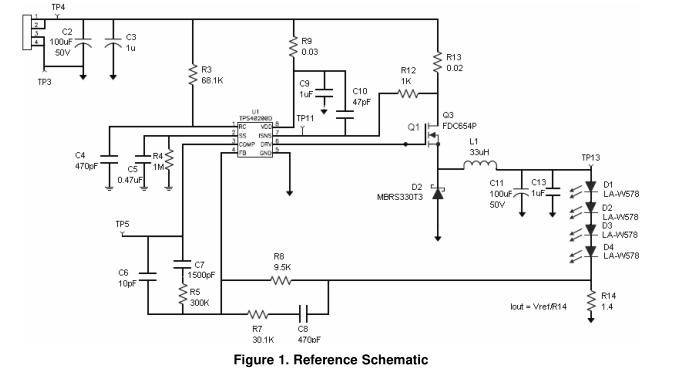 采用TPS40200的大功率LED驱动器