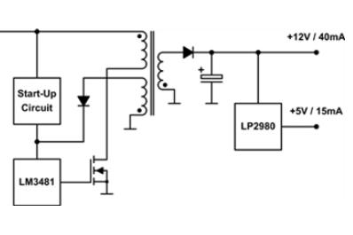 具有超宽输入电压范围小功率反激式设计