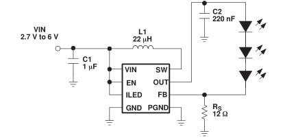 使用TPS61060/1/2供电多个白光LED、PWM和数字调光控制