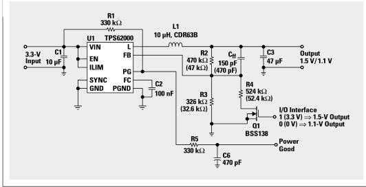 利用TPS6200 Buck变换器实现DSP的运行时功率控制