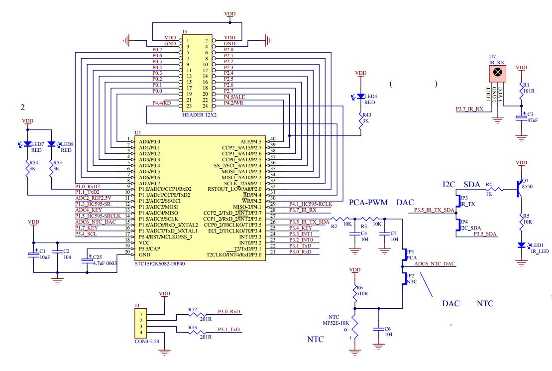 stc15f2k60s2系列开发板电路图资料下载