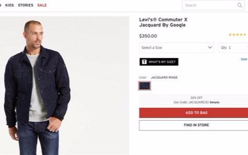 Google和Levi's共同推出的那件Jacq...