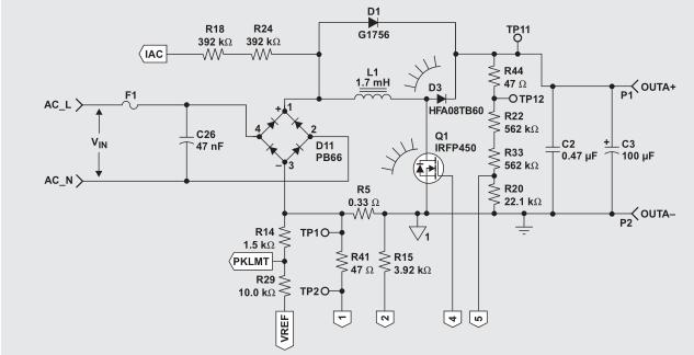 具有12V,8W偏压电源的UCC25517 100-W PFC功率变换器,第1部分