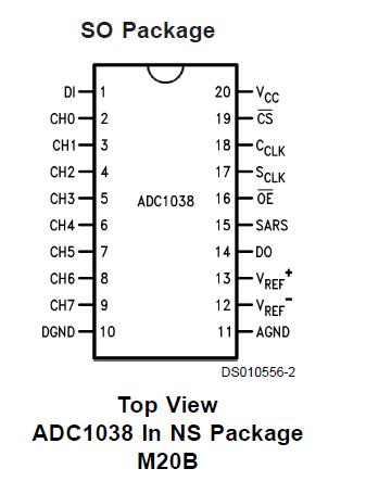 具有串行IO的10位AD转换器ADC1038的详细英文资料免费下载