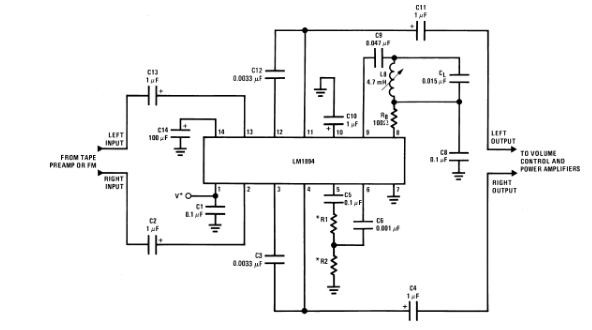 LM1849动态降噪系统DNR