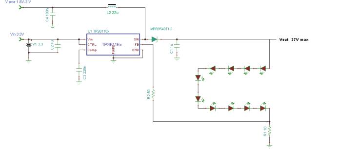 TPS6116x中如何具有独立功率级和IC输入电压