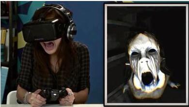 VR(虚拟现实)眼镜看恐怖片,你愿意试试吗?