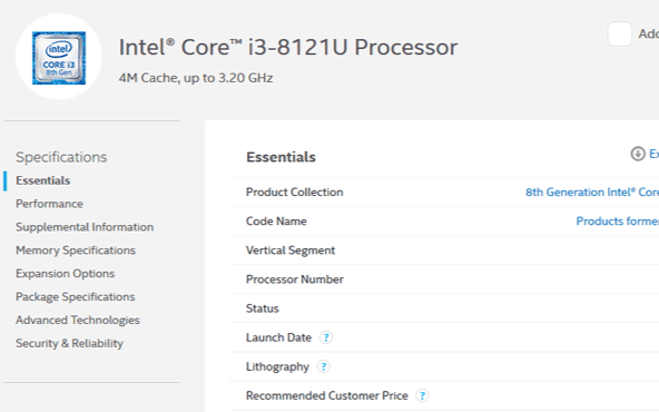 Intel公布了首款10nm处理器,型号i3-8...