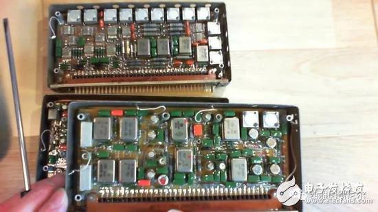 youtube上苏联战机内部部分设备拆机图,集成度很低
