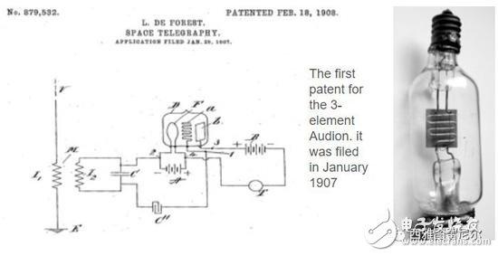 三极管的专利原文  1907 年 1 月提交