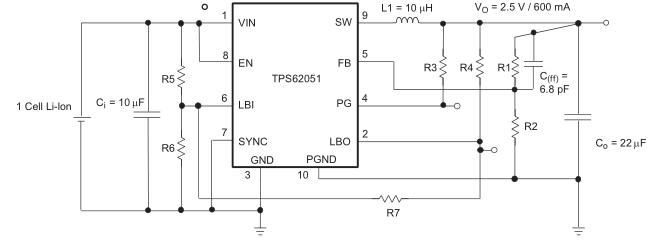在TPS6205X上增加低电池输入的滞后