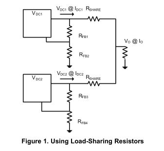 压载电阻器允许两个并联DC/DC转换器之间的负载分配
