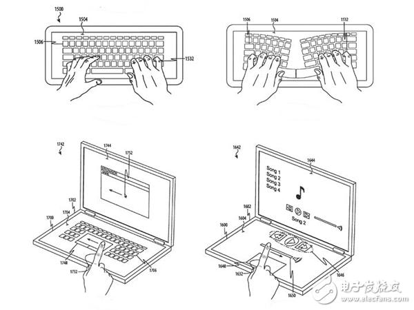 苹果新专利揭示 或为MacBook推触屏键盘