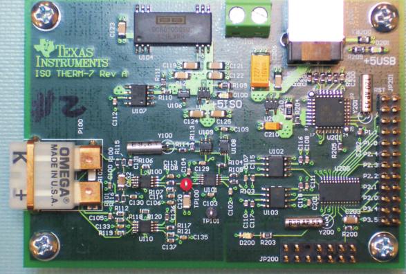 低成本、抗噪声、隔离的热电偶信号处理器