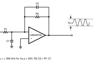 LME49722低噪声、高性能、高保真双音频运算放大器