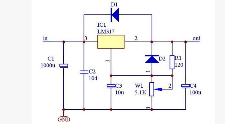 一文看懂7805和lm317区别及电路图分享